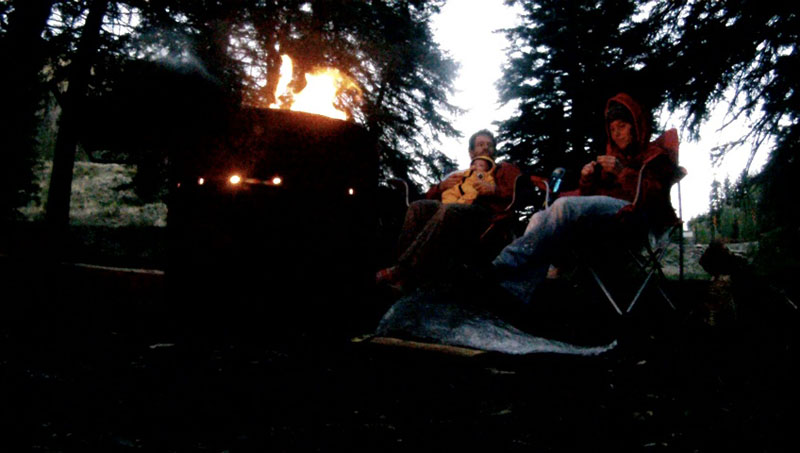 First campfire as a family of three.